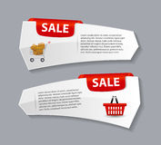 Sale Banner with Place for your Text. Vector Royalty Free Stock Photo
