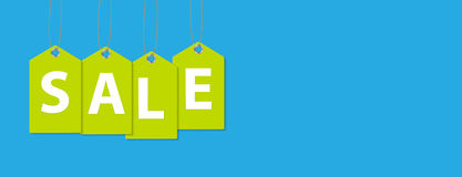 Sale Banner with Place for Your Text. Vector Royalty Free Stock Image