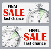 Sale Banner with Place for Your Text. Vector Royalty Free Stock Photography