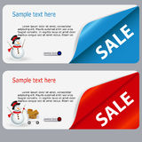 Sale banner with place for your text. vector Stock Photography