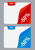 Sale banner with place for your text. vector Royalty Free Stock Photos