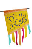 Sale Banner on Pole Stock Photo