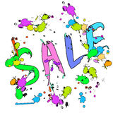 SALE banner poster colorful Royalty Free Stock Photo