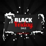 Sale banner or poster design with 75% discount offer on black ba. Ckground for Black Friday royalty free illustration