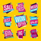 Sale banner raster isolated set Royalty Free Stock Image