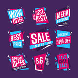 Sale banner raster isolated set Royalty Free Stock Photo
