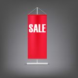 Sale banner. Red advertising stand. Royalty Free Stock Photos