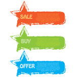 Sale banner set. 3 colors Royalty Free Stock Photography