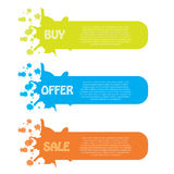 Sale banner set Stock Photography
