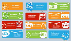 Sale Banner Set with Place for Your Text. Vector Stock Image