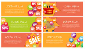 Sale Banner Set with Place for Your Text. Vector Royalty Free Stock Photos