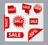 Sale Banner Set with Place for Your Text. Vector Stock Photos