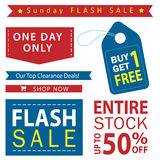 Sale banner set. Shop now, buy one get one free, vector. Flash sale banner set. Shop now, buy one get one free, vector Stock Images