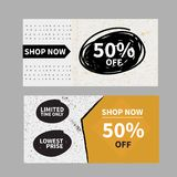 Sale banner set, shopping label. Adertisement for web Royalty Free Stock Photography