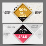 Sale banner set, shopping label,. Adertisement for web Stock Photos