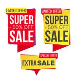 Sale Banner Set Vector. Discount Banners. Sale Banner Tag. Price Tag Labels. Isolated Illustration Stock Photos