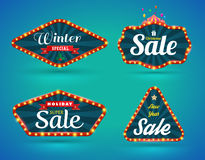Sale banner set Stock Images