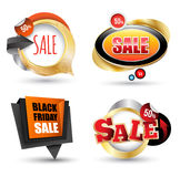 Sale banner set. Vector illustration. Stock Photo