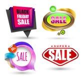 SALE banner set. Vector illustration. Stock Images