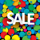 sale banner sign over colorful background, vector  Stock Images