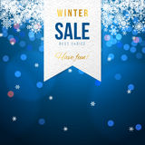 Sale banner with snowflakes Stock Photos