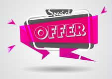 Sale banner special offer sign template.shopping flyers discount banner poster vector illustration