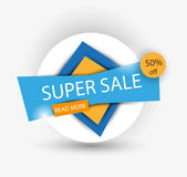 Sale banner. Super Sale and special offer. Vector illustration Royalty Free Stock Photo