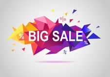 Sale banner template colorful design. Sale poster, banner template colorful original design Stock Images