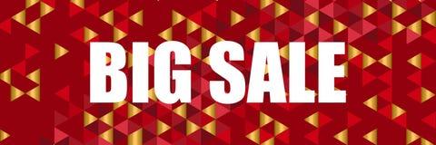 Sale banner template design, Big sale special offer. stock illustration