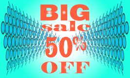 Sale banner template design, Big sale special up to 50% off. vector illustration stock photo