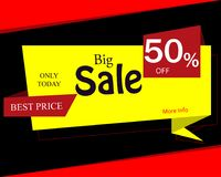 Sale banner template design, Big sale up to 50%,special offer.En. D of season special offer banner.Vector illustration vector illustration