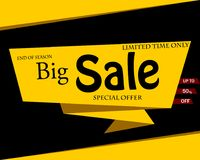 Sale banner template design, Big sale up to 50%,special offer.En. D of season special offer banner.Vector illustration stock illustration