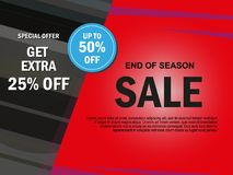 Sale banner template design, Big sale special offer. end of season special offer banner. vector illustration. Sale banner template design, Big sale special Stock Images