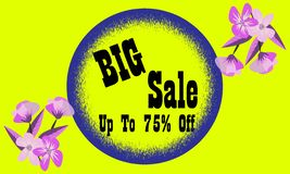 Sale banner template design. Big sale special offer. royalty free stock photo