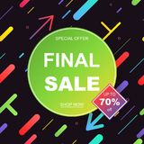 Sale banner template design. Vector illustration. Royalty Free Stock Photos
