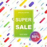 Sale banner template design. Vector illustration. Royalty Free Stock Photography