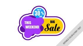 Sale banner template design Labels, Tags. royalty free illustration