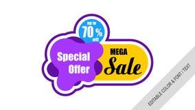Sale banner template design Labels, Tags, sticker royalty free illustration