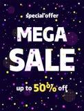 Sale banner template design. Special offer. royalty free illustration