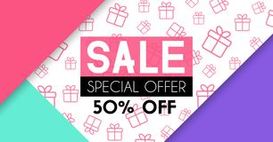 Sale banner template design. Background for beauty or fashion promotion Royalty Free Stock Photography