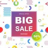 Sale banner template design. Vector illustration. Stock Photo