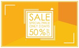 Sale banner template design. Vector illustrations for website an Royalty Free Stock Photo