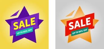 Sale banner template design. vector stock illustration