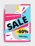 Sale banner template Royalty Free Stock Photography