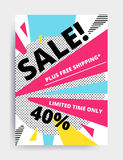 Sale banner template Royalty Free Stock Image