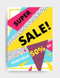 Sale banner template Stock Photo