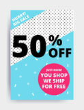 Sale banner template Royalty Free Stock Photos
