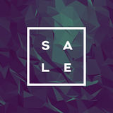 Sale banner template with low poly vector background. Special offers and discounts promotion. Royalty Free Stock Images