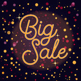 Sale banner with text and Bokeh Lights Stock Photos