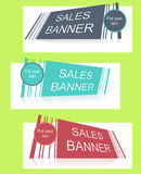 Sale banner with text field Stock Images